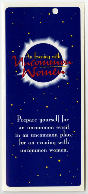 Primary view of object titled '[Pamphlet for An Evening with Uncommon Women]'.