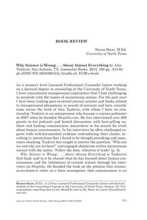 Primary view of object titled 'Book Review: Why Science is Wrong...About Almost Everything'.