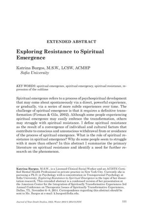 how to write an extended abstract