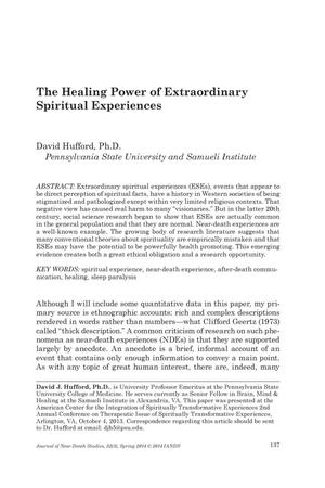 Primary view of object titled 'The Healing Power of Extraordinary Spiritual Experiences'.