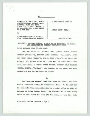 Primary view of object titled '[Plaintiff's original petition]'.