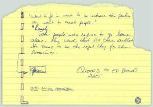 Primary view of object titled '[Handwritten notes: Quotes from Ed Brown]'.