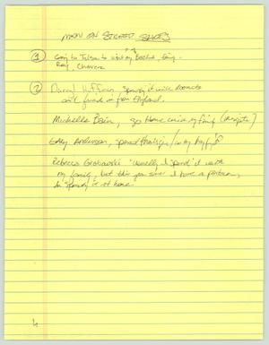 Primary view of object titled '[Notes: Family questionnaire]'.