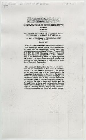 Primary view of object titled '[Copy of Supreme Court: Roger vs. Evans]'.