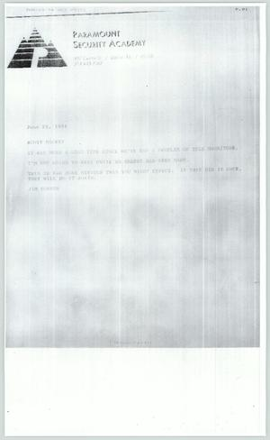 Primary view of object titled '[Copy of letter: Jim Foster to the Dallas Voice]'.