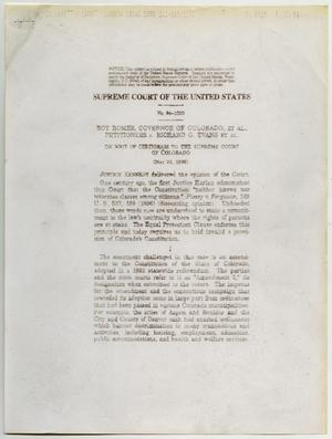 Primary view of object titled '[Supreme Court: Roger vs. Evans]'.