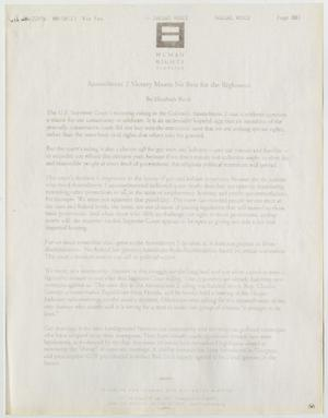 Primary view of object titled '[Amendment 2 victory means no rest for the righteous]'.