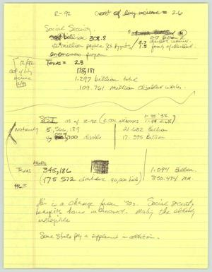 Primary view of object titled '[Handwritten Notes: Social Security for AIDS patients]'.