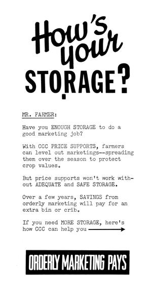 How's your storage?