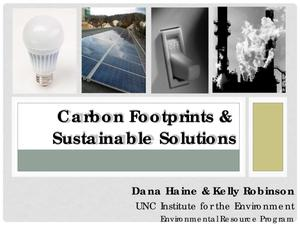 Primary view of object titled 'Carbon Footprints and Sustainable Solutions'.