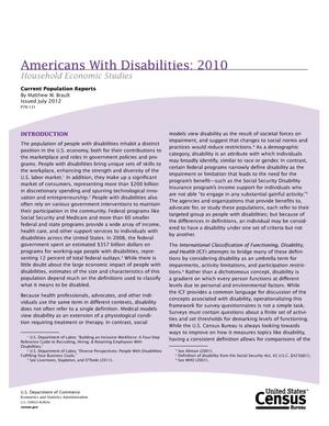 Primary view of object titled 'Americans With Disabilities: 2005'.