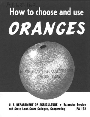 Primary view of object titled 'How to choose and use oranges.'.