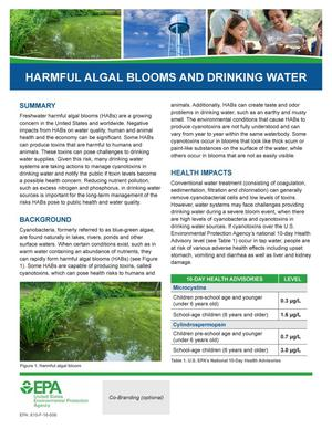 Primary view of object titled 'Harmful Algal Blooms and Drinking Water'.