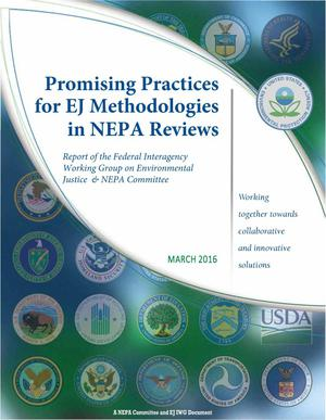 Primary view of object titled 'Promising Practices for EJ Methodologies in NEPA Reviews'.