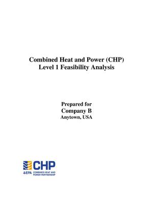 Primary view of object titled 'Combined Heat and Power (CHP) Level 1 Feasibility Analysis'.