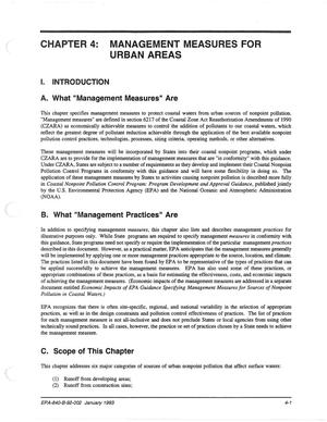 Primary view of object titled 'Chapter 4: Management Measures for Urban Areas'.
