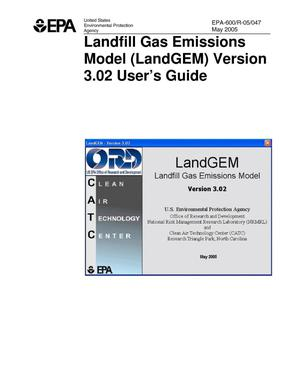Primary view of object titled 'Landfill Gas Emissions Model (LandGEM) Version 3.02 User's Guide'.