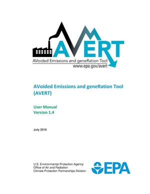 Primary view of object titled 'AVoided Emissions and geneRation Tool (AVERT): User Manual Version 1.4'.