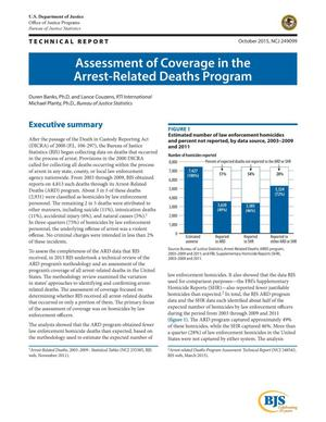 Primary view of object titled 'Assessment of Coverage in the Arrest-Related Deaths Program'.