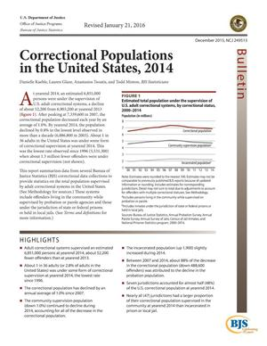 Primary view of object titled 'Correctional Populations in the United States, 2014'.