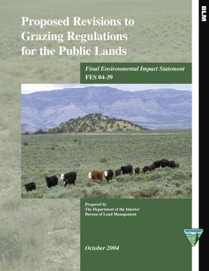 Primary view of object titled 'Proposed Revisions to Grazing Regulations for the Public Lands'.