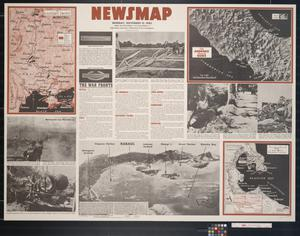 Primary view of object titled 'Newsmap. Monday, November 15, 1943 : week of November 4 to November 11, 218th week of the war, 100th week of U.S. participation'.
