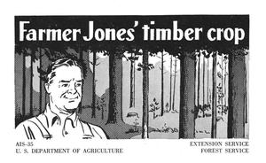 Primary view of object titled 'Farmer Jones' timber crop.'.