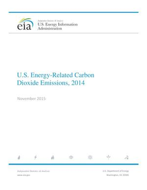 Primary view of object titled 'U.S. Energy-Related Carbon Dioxide Emissions, 2014'.