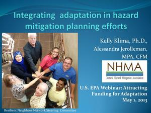Primary view of object titled 'Integrating Adaptation in Hazard Mitigation Planning Efforts'.