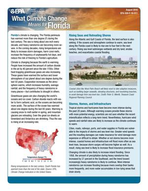 Primary view of object titled 'What Climate Change Means for Florida'.
