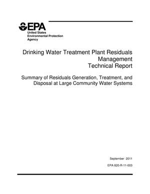 Primary view of object titled 'Drinking Water Treatment Plant Residuals Management Technical Report'.