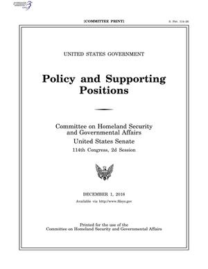 Primary view of object titled 'Policy and Supporting Positions'.