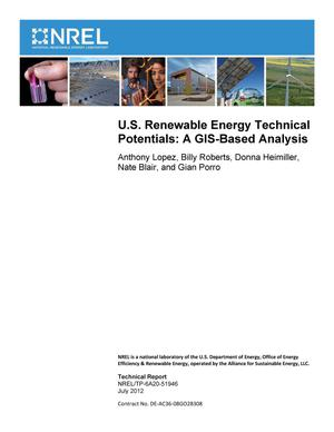 Primary view of object titled 'U.S. Renewable Energy Technical Potentials: A GIS-Based Analysis'.
