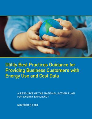 Primary view of object titled 'Utility Best Practices Guidance for Providing Business Customers with Energy Use and Cost Data'.