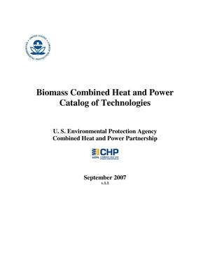 Primary view of object titled 'Biomass Combined Heat and Power Catalog of Technologies'.