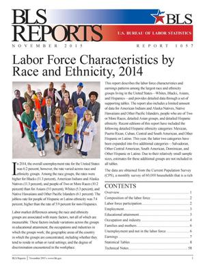Primary view of object titled 'Labor Force Characteristics by Race and Ethnicity, 2014'.
