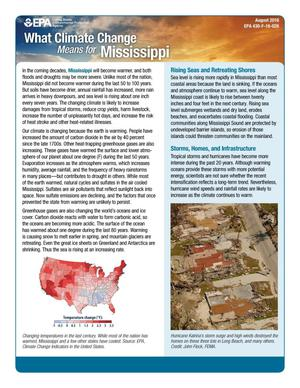 Primary view of object titled 'What Climate Change Means for Mississippi'.