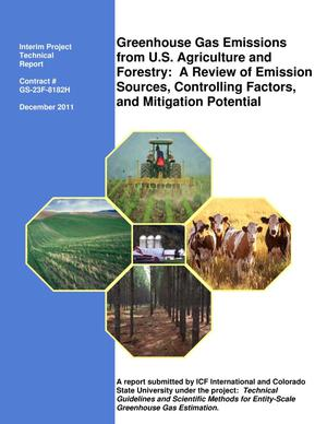 Primary view of object titled 'Greeenhouse Gas Emissions from U.S. Agriculture and Forestry: A Review of Emission Sources, Controlling Factors, and Mitigation Potential'.