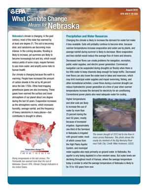 Primary view of object titled 'What Climate Change Means for Nebraska'.