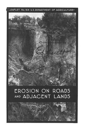 Primary view of object titled 'Erosion on roads and adjacent lands.'.