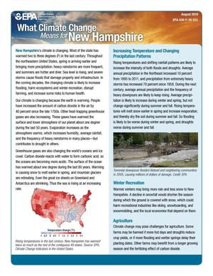 Primary view of object titled 'What Climate Change Means for New Hampshire'.