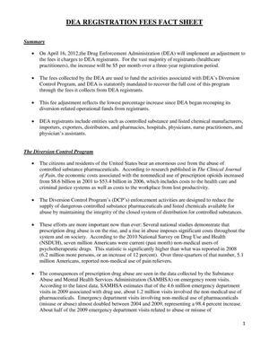 DEA Registration Fees Fact Sheet - Digital Library