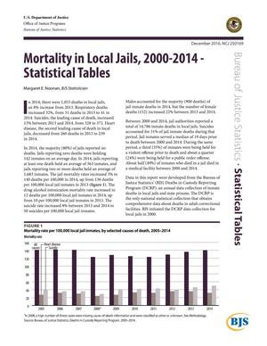 Primary view of object titled 'Mortality in Local Jails, 2000-2014-Statistical Tables'.