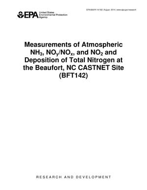 Primary view of object titled 'Measurements of Atmospheric NH3, NOy/NOx, and NO2 and Deposition of Total Nitrogen at the Beaufort, NC CASTNET Site (BFT142)'.