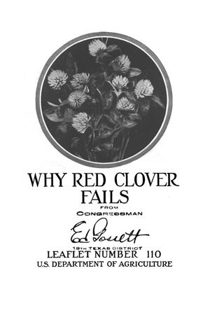 Why red clover fails.