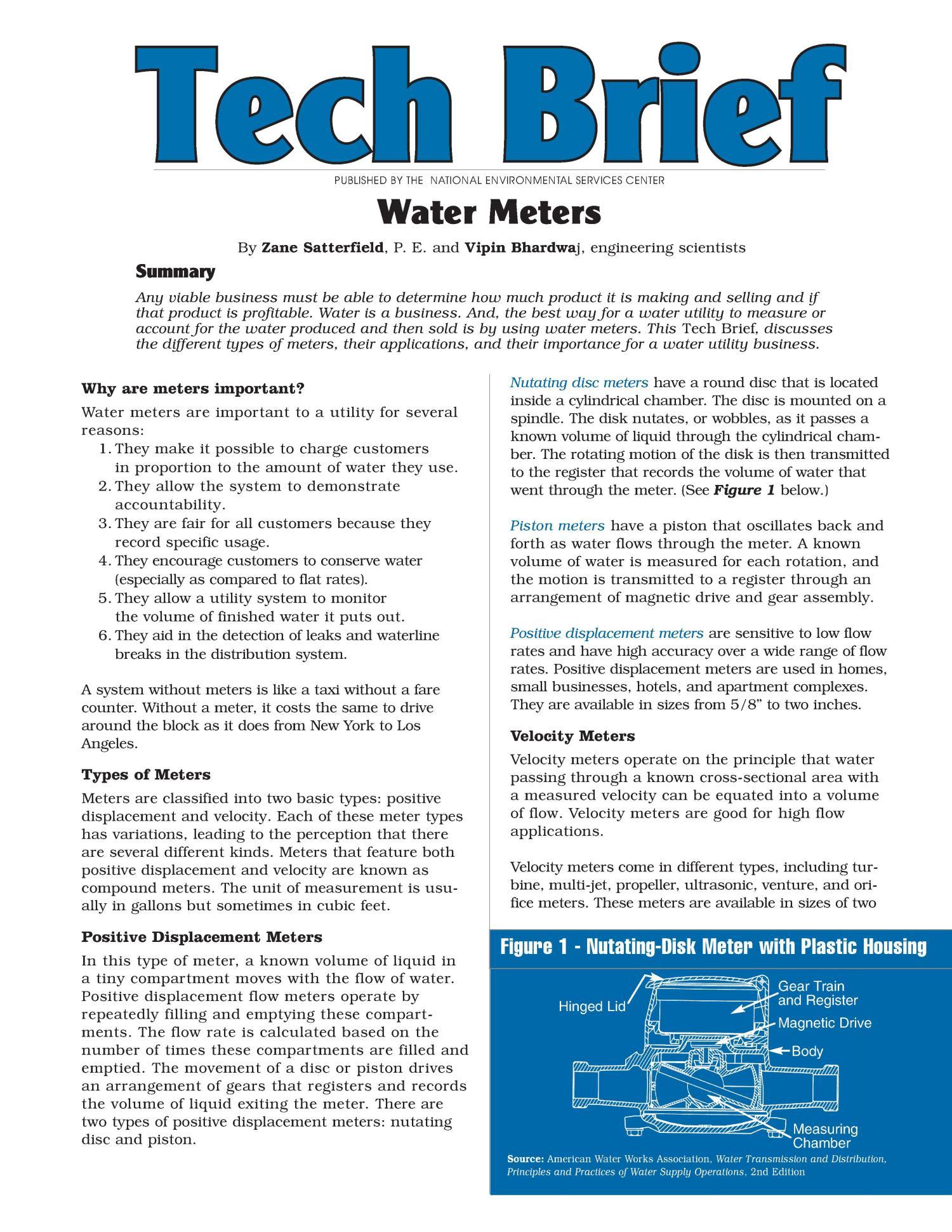 Is the water meter profitable? 12