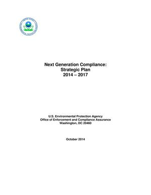 Primary view of object titled 'Next Generation Compliance: Strategic Plan 2014 - 2017'.