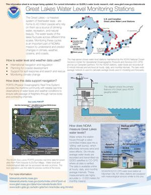 Primary view of object titled 'Great Lakes Water Level Monitoring Stations'.