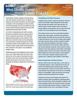 Primary view of object titled 'What Climate Change Means for South Dakota'.