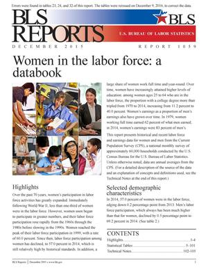 Primary view of object titled 'Women in the Labor Force: a Databook'.